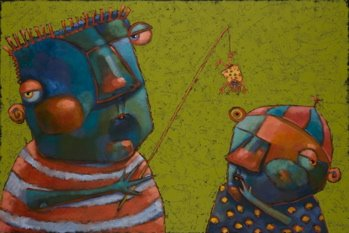 """Bad Boiz"" original fine art by Brenda York"