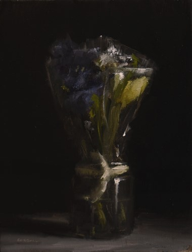"""Bouquet in Plastic Wrap"" original fine art by Neil Carroll"