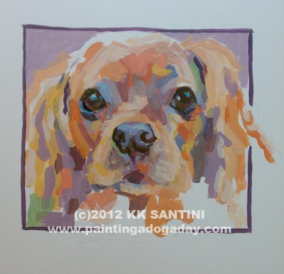 """Mazie Lou, A Painted Sketch"" original fine art by Kimberly Santini"