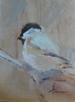 """Black Cap Chickadee"" original fine art by Susan Hammer"