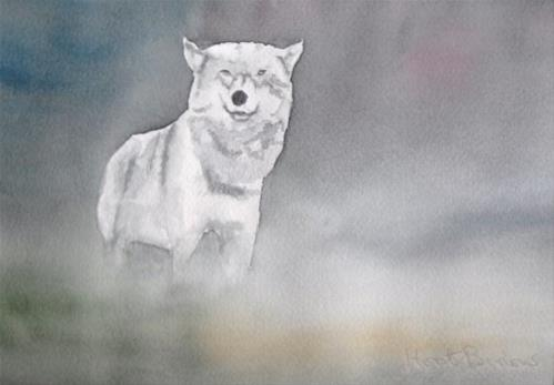"""Silver Wolf"" original fine art by Horst Berlow"