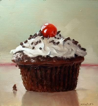 """Chocolate Cupcake"" original fine art by Michael Naples"