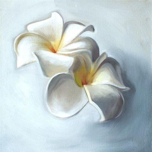 """Plumeria Blossoms"" original fine art by Lauren Pretorius"