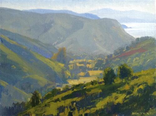 """The Heather trail"" original fine art by J. Thomas soltesz"