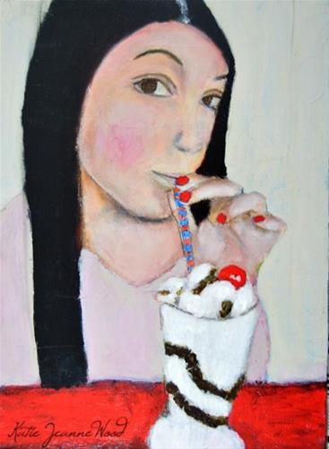 """Sale!! Cherry on Top"" original fine art by Katie Jeanne Wood"