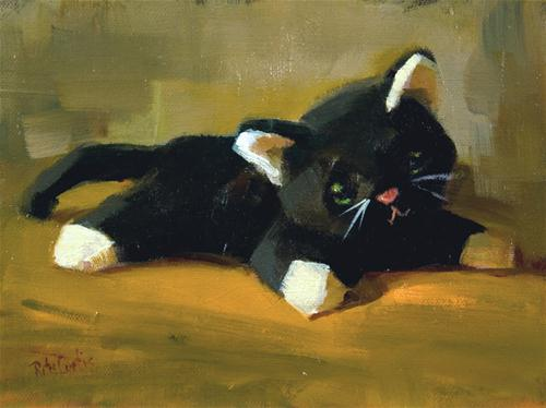 """Velveteen Kitty"" original fine art by Rita Curtis"
