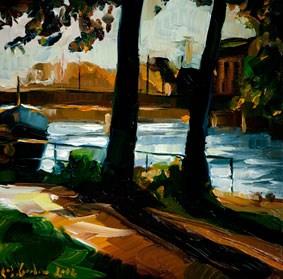 Am Ufer original fine art by Edward B. Gordon