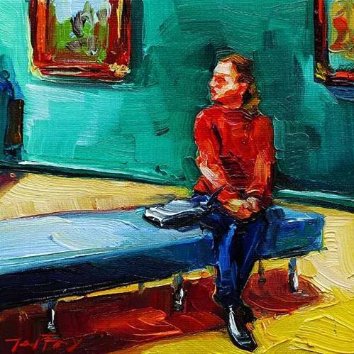 """""""Besuch beim Rembrandt 5"""" original fine art by Jurij Frey"""