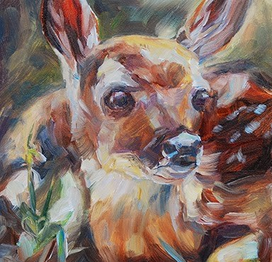 """Bambi"" original fine art by Carol DeMumbrum"