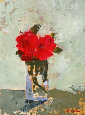 """red floral II"" original fine art by Pamela Munger"
