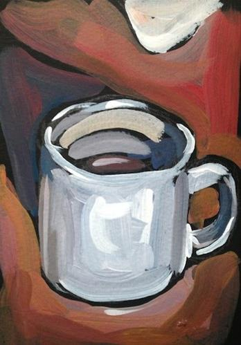 """Wisconsin Coffee"" original fine art by Kat Corrigan"