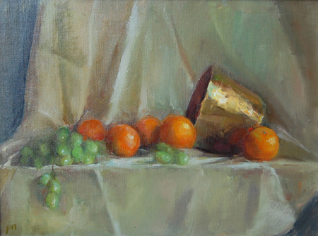 """Oranges and Brass"" original fine art by Patricia Nebbeling"