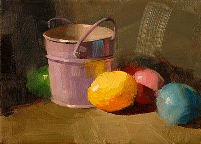 """Easter Colors' --- Sold"" original fine art by Qiang Huang"