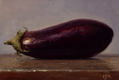 """Eggplant No. 8"" original fine art by Abbey Ryan"