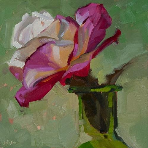 """Garden Roses Making a Show, 9.9.2014"" original fine art by Miriam Hill"