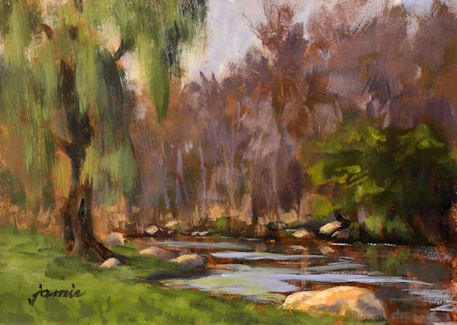 """Along the Creek"" original fine art by Jamie Williams Grossman"