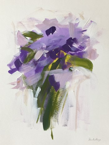 """purple bouquet"" original fine art by Pamela Munger"