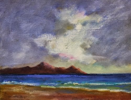 """Hawaii, Beach and Ocean Paintings by Arizona Artist Amy Whitehouse"" original fine art by Amy Whitehouse"