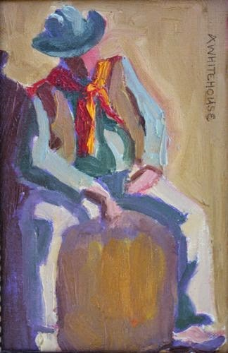 """Tucson Cowboy, Contemporary Figurative Paintings by Arizona Artist Amy Whitehouse"" original fine art by Amy Whitehouse"