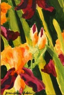 Abstract Iris original fine art by Joanne Perez Robinson