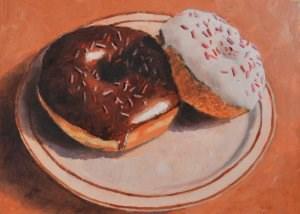 """Chocolate or Vanilla?"" original fine art by Robert Frankis"