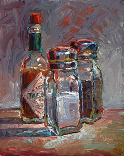 """Salt, Pepper, and Tabasco"" original fine art by Raymond Logan"