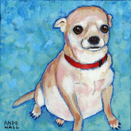 """Chubby Chihuahua"" original fine art by Ande Hall"