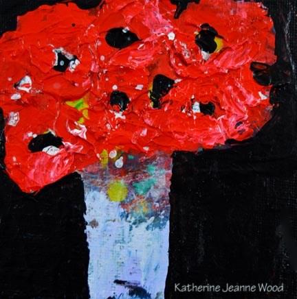"""Flower Series No 72"" original fine art by Katie Jeanne Wood"