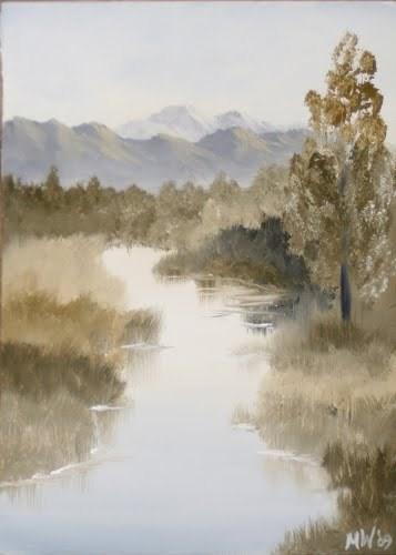 """""""Mark Webster - Grayscape #9 - Landscape Oil Painting"""" original fine art by Mark Webster"""