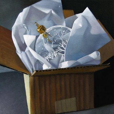 """December Challenge 6x6x3"" original fine art by M Collier"