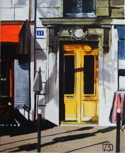 """Yellow Door"" original fine art by Andre Beaulieu"