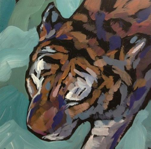 """Pacing With His Eyes Closed"" original fine art by Kat Corrigan"