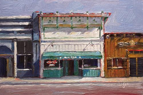 """Bill's Place in Arroyo Grande Village"" original fine art by Raymond Logan"