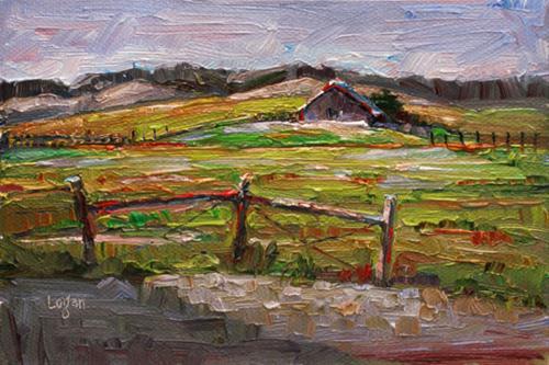 Another SLO Barn original fine art by Raymond Logan