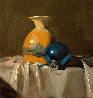 """Blue Ornament"" original fine art by Qiang Huang"