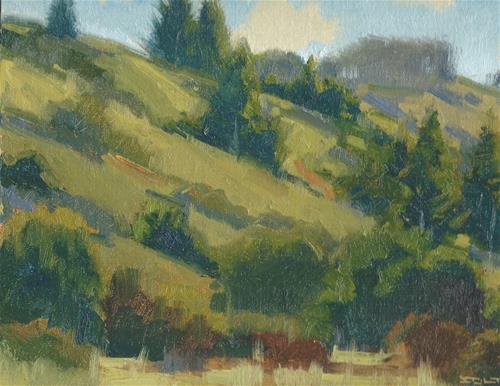 """Heather trail view"" original fine art by J. Thomas soltesz"