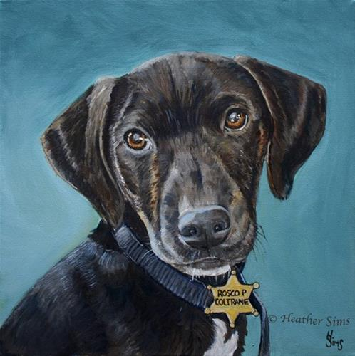 """Rosco P Coltrane"" original fine art by Heather Sims"