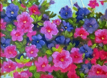"""'Tickled Pink' An Original Oil Painting by Claire Beadon Carnell"" original fine art by Claire Beadon Carnell"