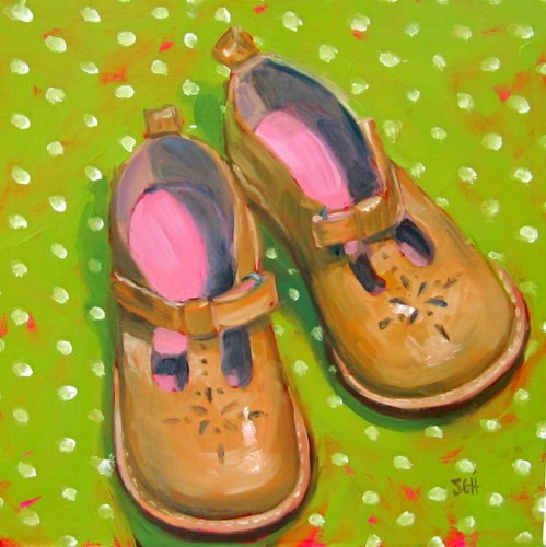 """Everyday Mary Janes"" original fine art by Sandy Haynes"