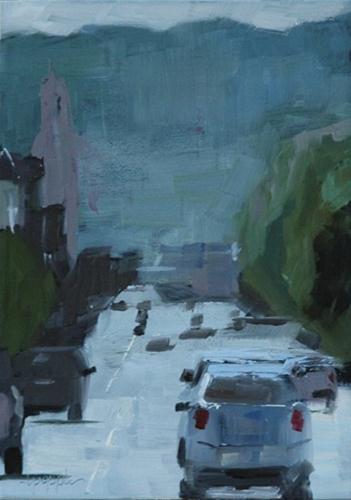 """CITYSCAPE 2"" original fine art by Linda Popple"