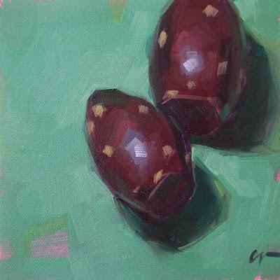 """Cactus Fruit 2"" original fine art by Carol Marine"