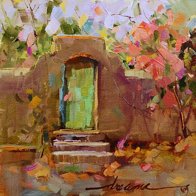 """Mur Français de Jardin (French Garden Wall) SOLD"" original fine art by Dreama Tolle Perry"