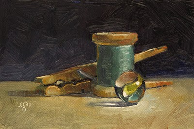 """Some Small Stuff"" original fine art by Raymond Logan"