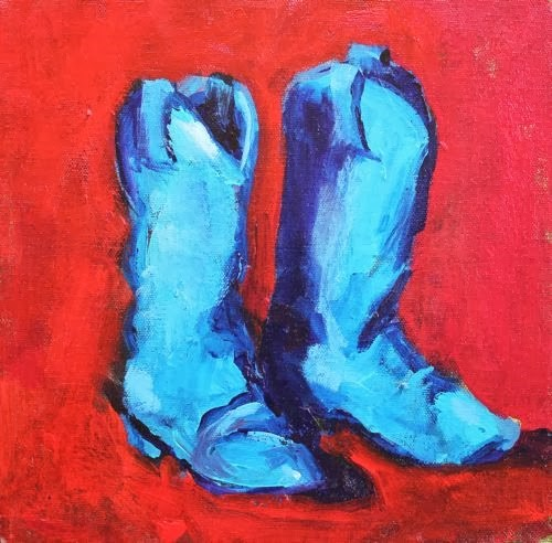 """Made for Walkin' ~ Shoe Paintings by Arizona Artist Amy Whitehouse"" original fine art by Amy Whitehouse"