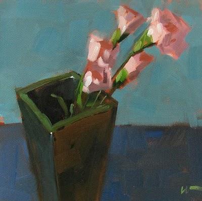 """Pink Carnations"" original fine art by Carol Marine"