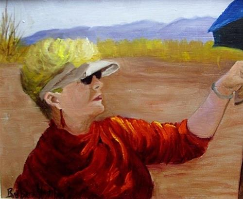 """Self Portrait Barbara Haviland"" original fine art by Barbara Haviland"