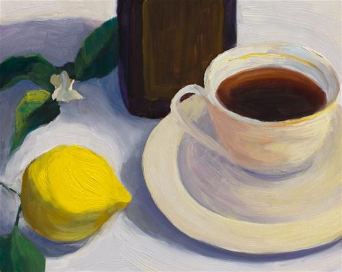 """Tea & Lemon"" original fine art by Jana Bouc"
