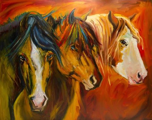 """ARTOUTWEST EQUINE AT THE FENCE HORSE ART BY Diane Whitehead"" original fine art by Diane Whitehead"