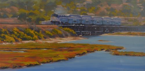 """""""Morning Train"""" original fine art by John White"""