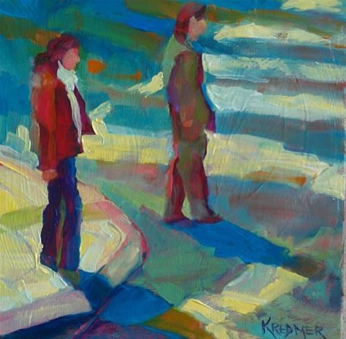 """Crossing"" original fine art by Kathleen Redmer"